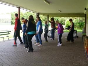 Beim Fun-Dancing hatte jeder seinen Spaß.