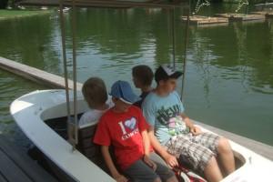 In der Gondoletta konnte man das Geschehen rund um den Parksee vom Wasser aus betrachten.