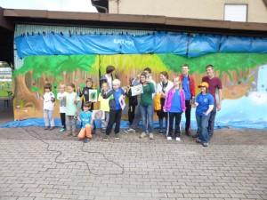 Jeder Teilnehmer konnte sein Talent als Graffitykünstler unter Beweis stellen.