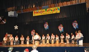 Die Gruppe während ihrem Auftritt