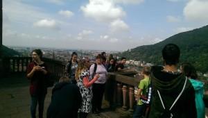 Von hier oben hatten wir einen schönen Blick auf Heidelberg und  das Neckartal.